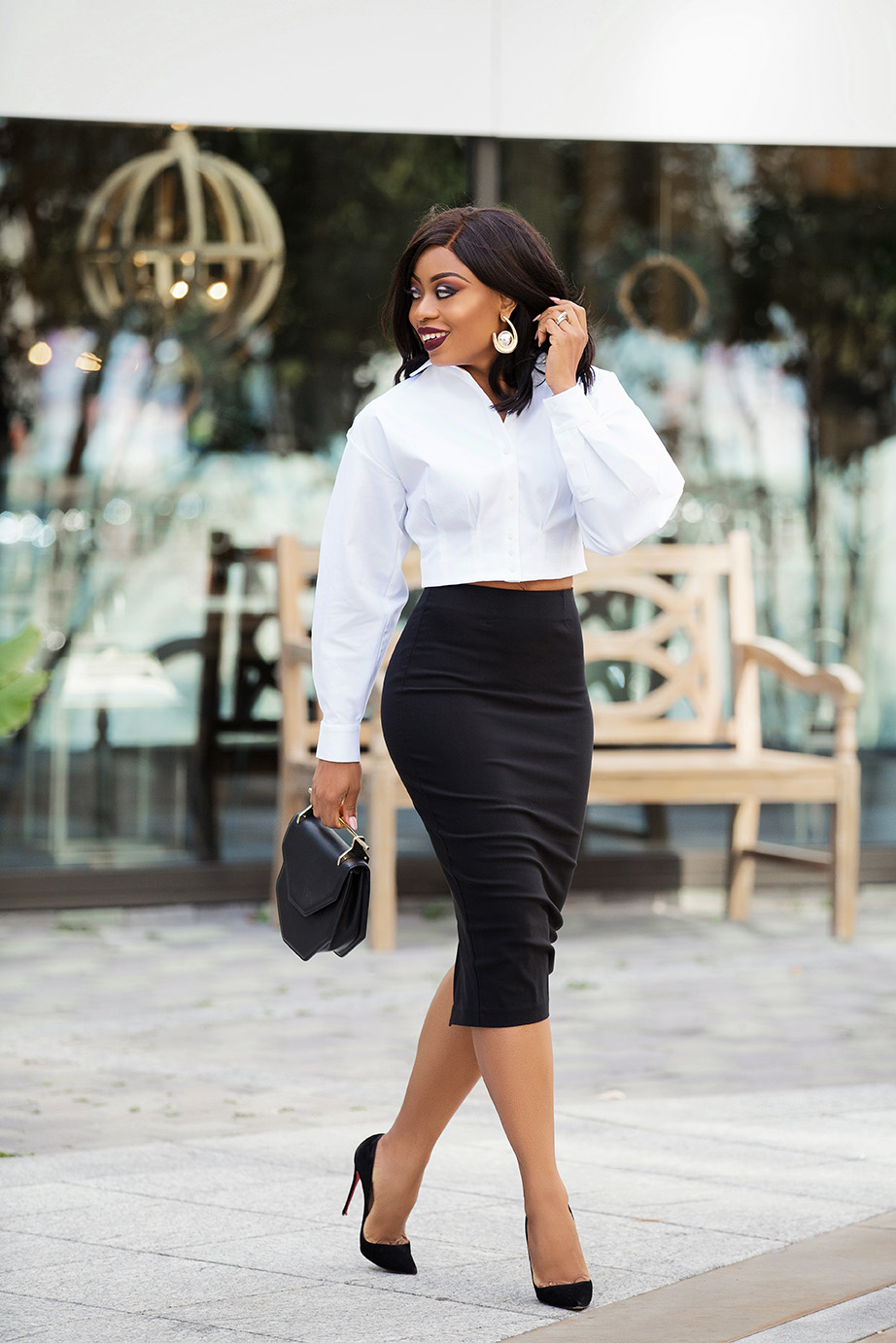 Black and white work style, www.jadore-fashion.com