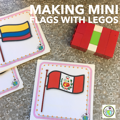 Making Mini Flags with Legos