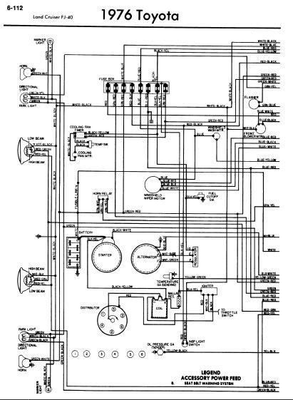 1976 toyota land cruiser wiring diagram rockford fosgate punch p200 2 repair-manuals: fj40 diagrams