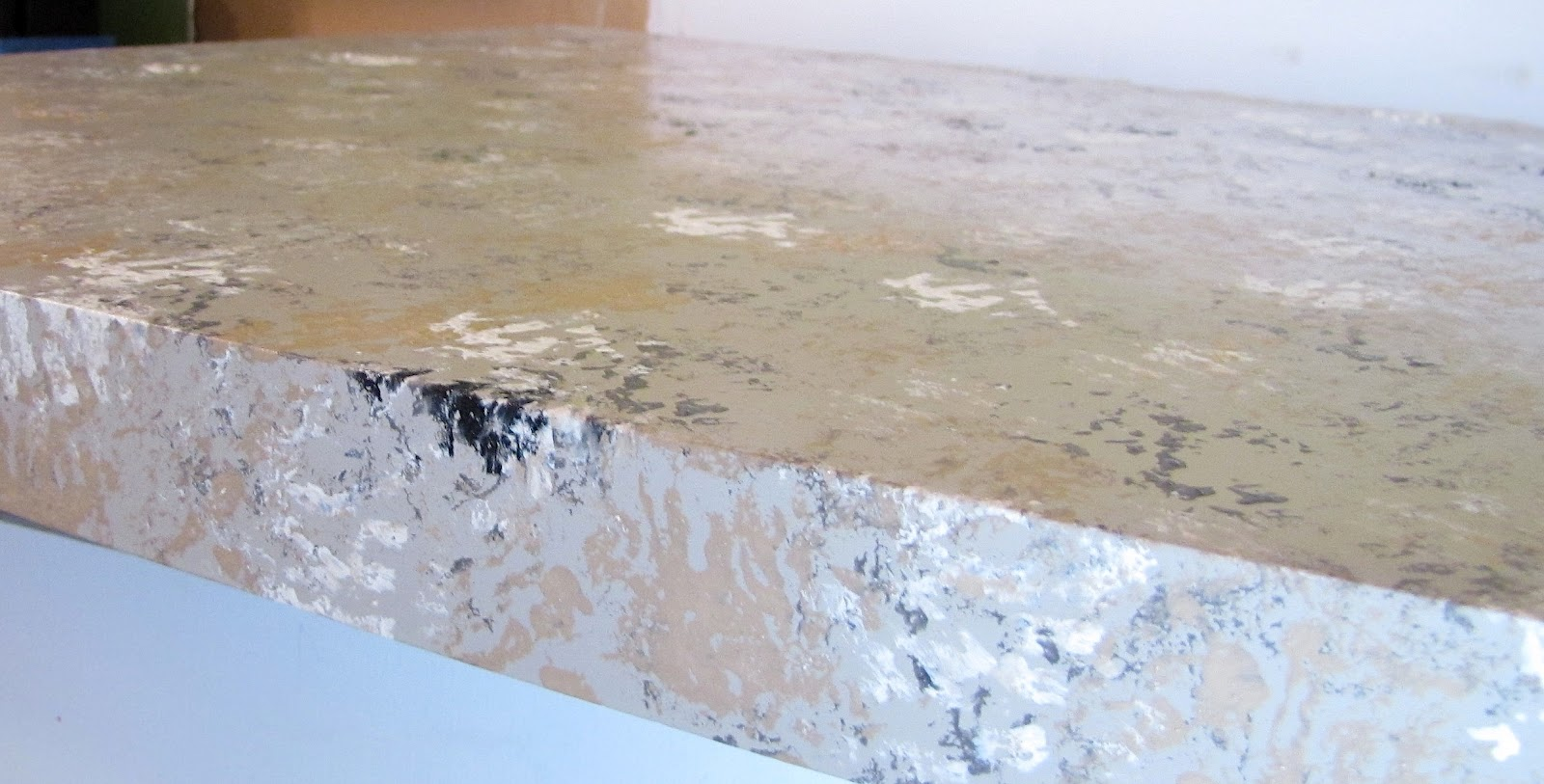 Ugly Granite Countertops The Modest Homestead How To Paint Your Countertops To Look Like