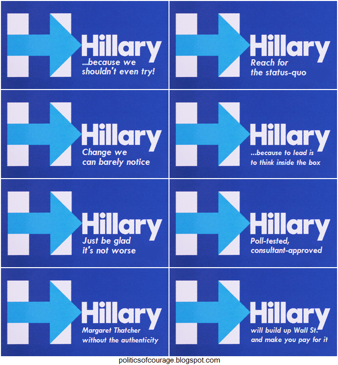 the politics of courage fitting slogans for the clinton campaign