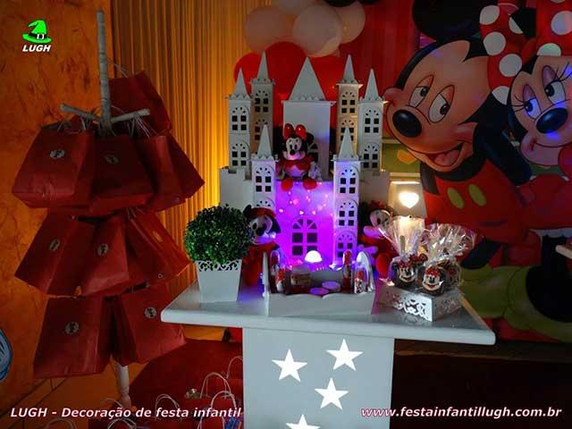 Festa infantil da Minnie - vermelha - decoração infantil - mesa temática