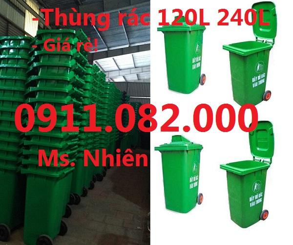 Chuyên phân phối thùng rác 120 lít, 240 lít giá rẻ vĩnh long