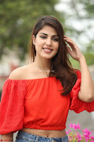 Rhea Chakraborty in Red Crop Top and Denim Shorts Spicy Pics ~  Exclusive 068.JPG