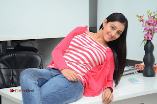 Telugu Actress Mouryani Latest Pos in Blue Denim Jeans  0236.JPG