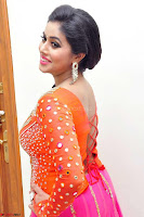 Poorna in Orange Colorful Choli Ghagra Saree Spicy Pics ~  Exclusive 01.jpg
