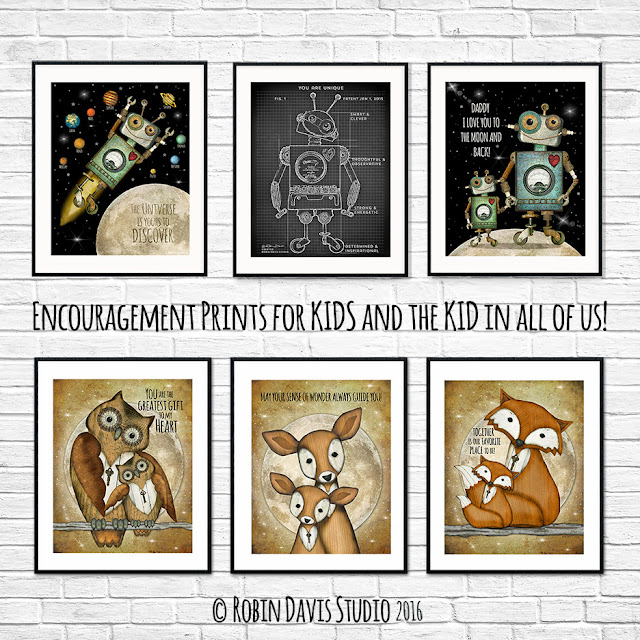 Encouragement Prints for Kids by Robin Davis Studio
