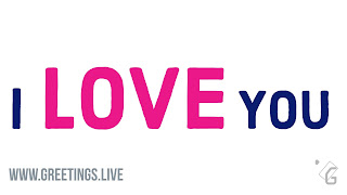 PINK LOVE TEXT BIG, I and YOU Small dark blue