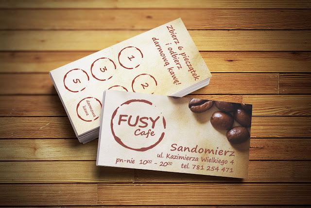 Fusy Cafe Sandomierz - karta lojalnościowa