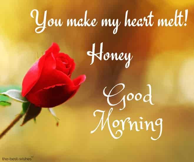 good morning honey text for him