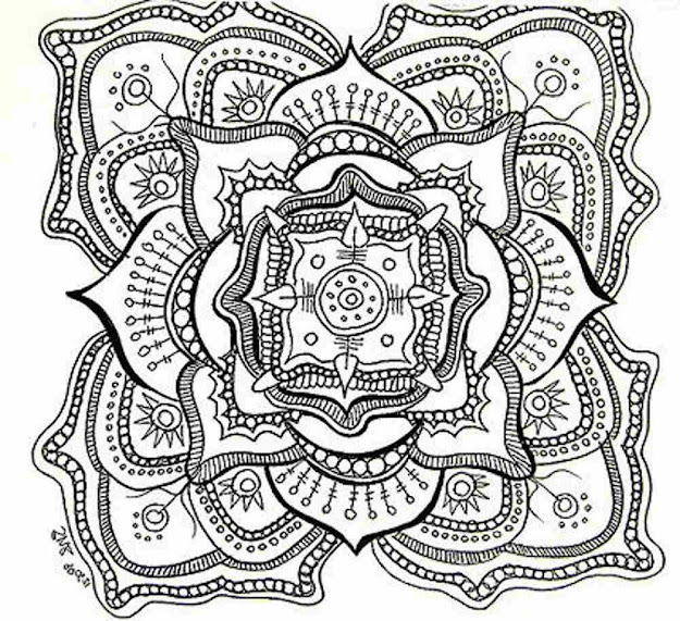 Cool Adult Coloring Pages Mandala Printable One Of The Adult Coloring Pages  Mandala Printable   For Your Kids To Print Out And Find Similar Of  Cool