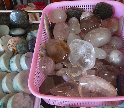 transparent crystals