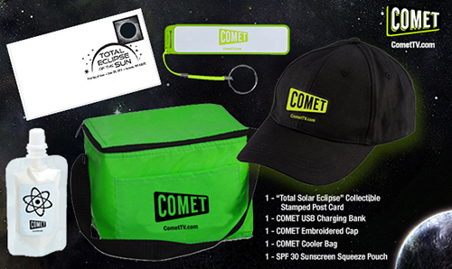 GIVEAWAY: Comet TV Solar Eclipse prize pack