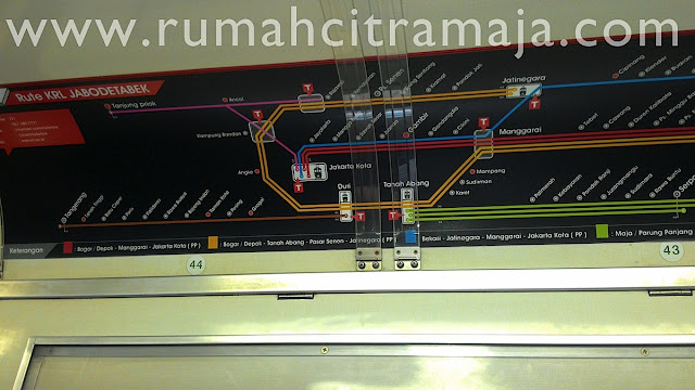 Gambar Peta Jalur Kereta Api Ke Maja / Parung Panjang