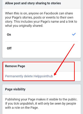 how to delete easily your fb page