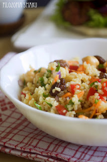 (Marokańska sałatka z kaszy kuskus