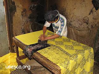 Proses Batik Cap