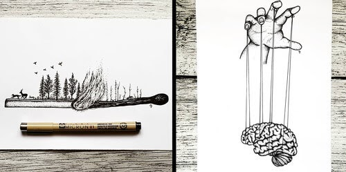 00-Mandy-Razik-Ink-Illustrations-with-a-Meaning-www-designstack-co