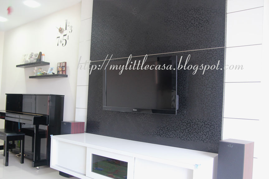 Home Sweet Home My Little Quot Casa Quot Feature Wall And Tv
