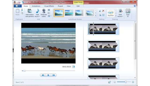 Windows Movie Maker Software Edit Video Ringan