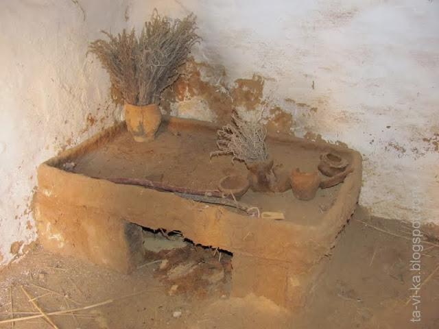 Кара-Тобе, интерьер скифского жилища