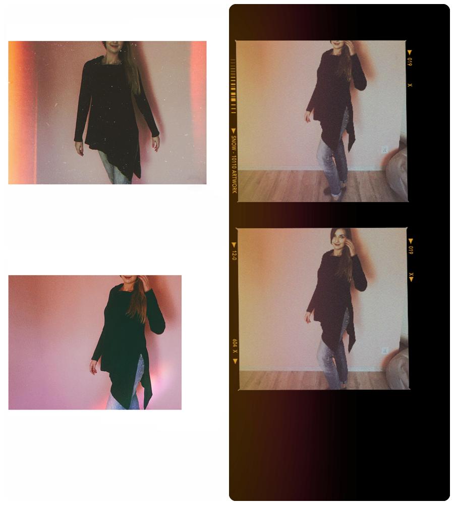 asymetryczny sweter bon prix