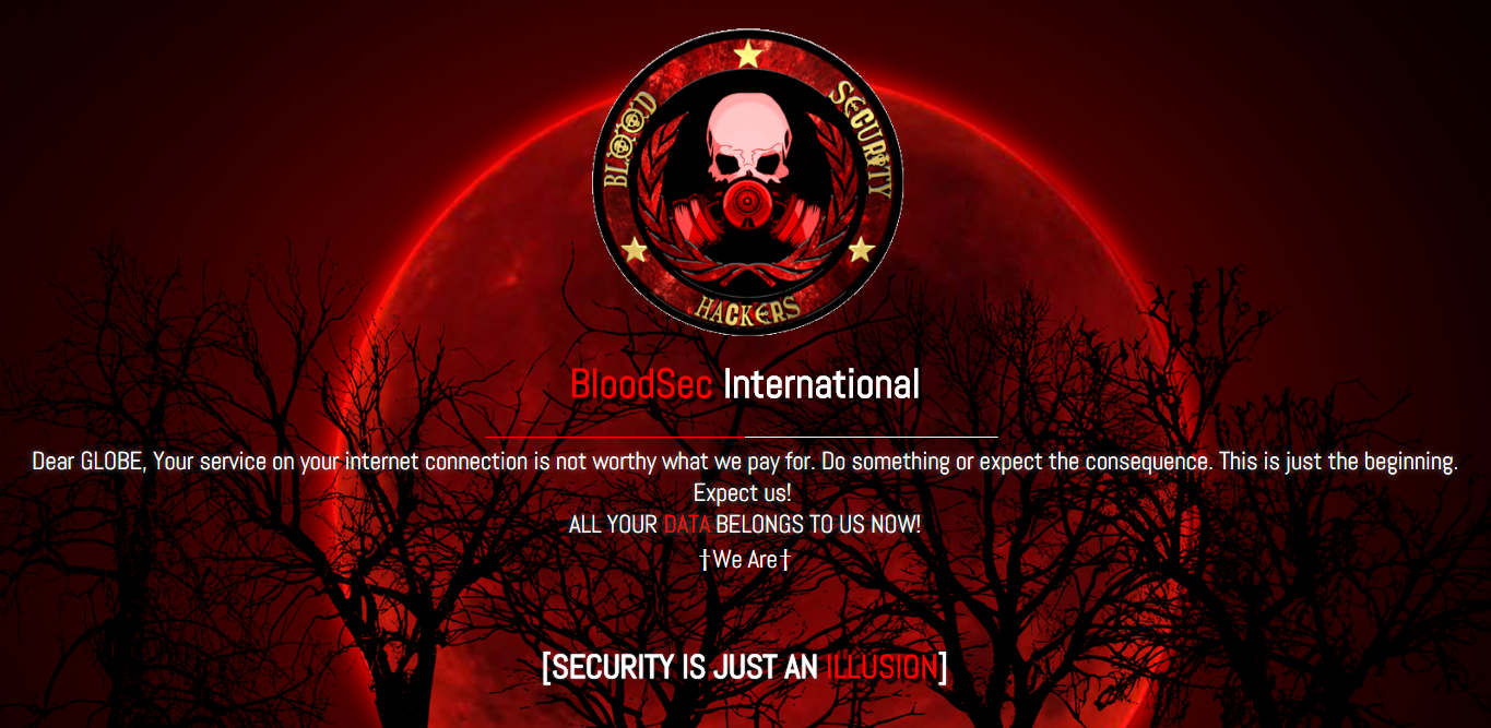 blood sec hackers globe telecom