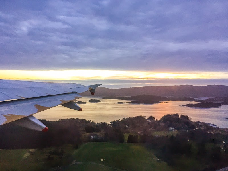 bergen airport take off
