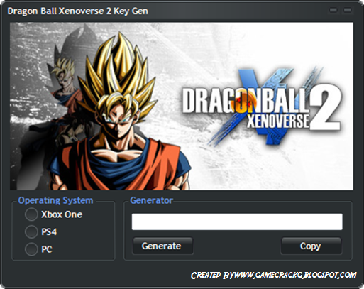 key generator dragon ball xenoverse