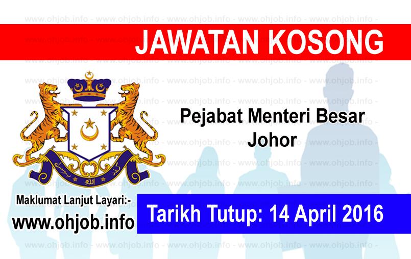 Jawatan Kerja Kosong Pejabat Menteri Besar Johor logo www.ohjob.info april 2016