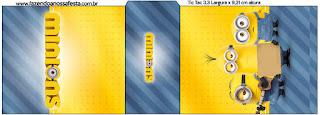 Etiqueta Tic Tac para imprimir gratis de Película de los Minions.