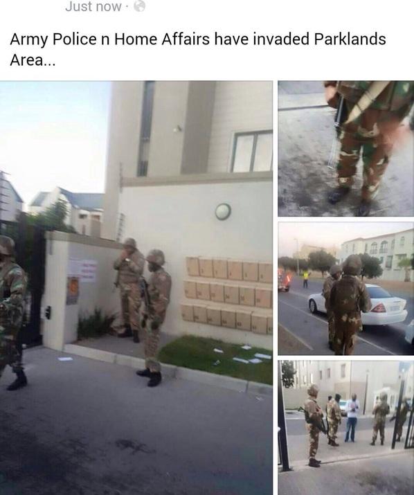 police raid parkland cape town