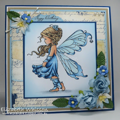Alshandra, Alshandra's corner, Elizabeth Whisson, handmade card, copics, stamping, whimsy stamps, silver fairy
