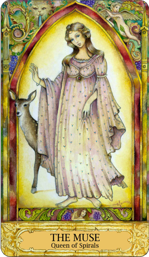 Chrysalis Tarot The Muse, Queen of Spirals, Queen of Wands, Holly Sierra