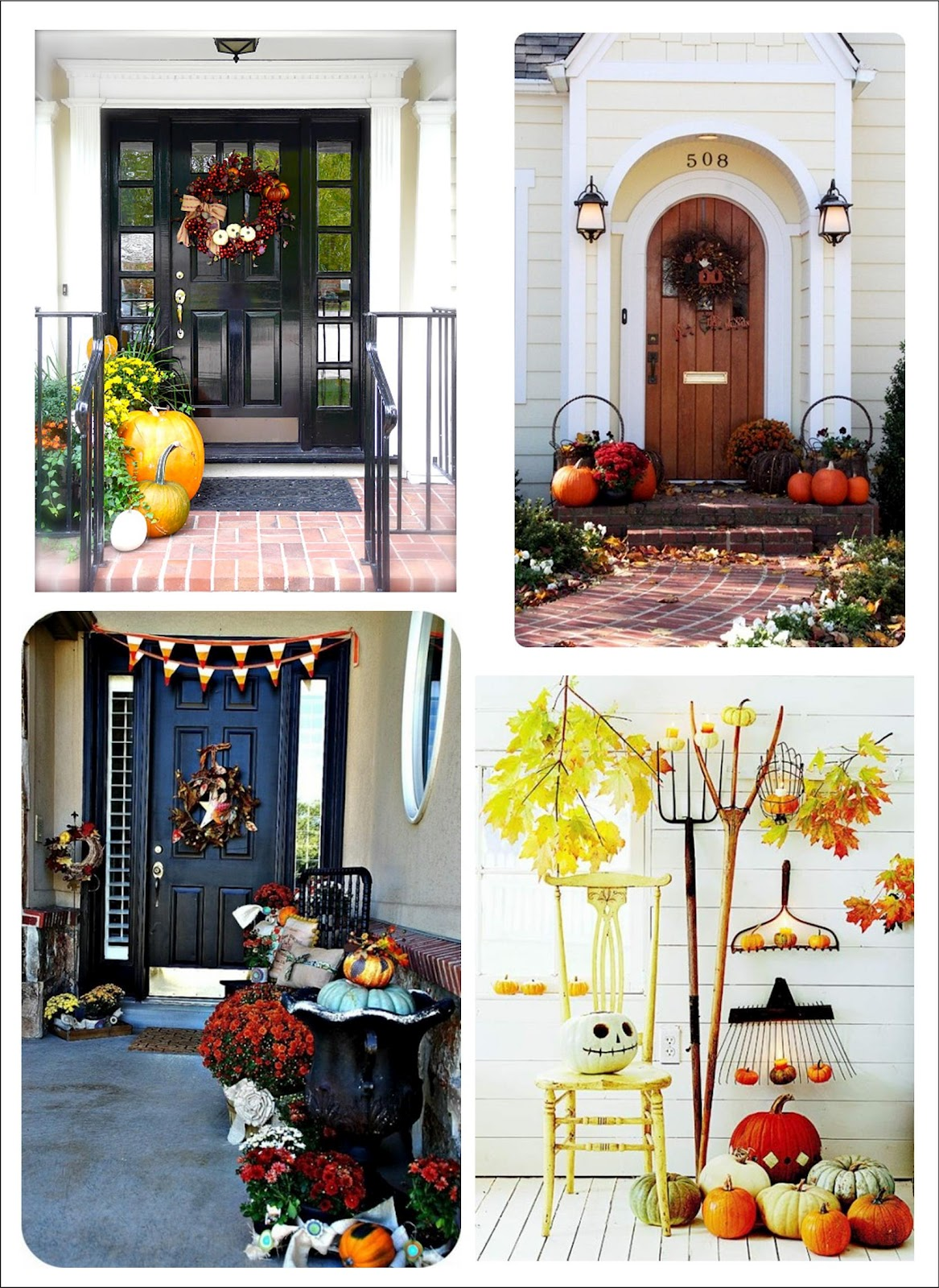 Decorating Ideas For Rentals: It's Written On The Wall: 90 Fall Porch Decorating Ideas