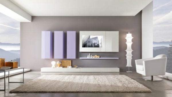 wohnzimmer grau weiß modern | minimalistische haus design, Modern Dekoo