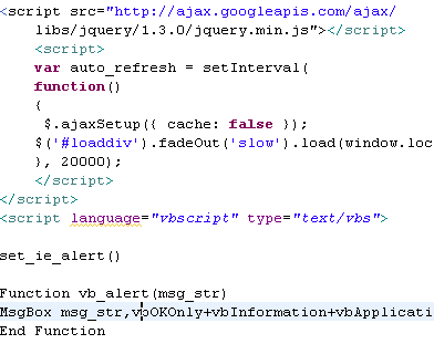 Auto Refresh a Web Page using AJAX ~ Ajinkya Mandhare