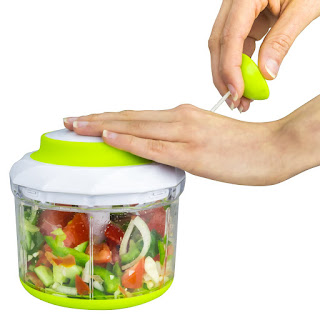 Deal Today ( AMAZON) Brieftons QuickPull Food Chopper: Powerful Manual HandHeld Chopper/Mixer/Blender, Large 4-Cup – £12.74