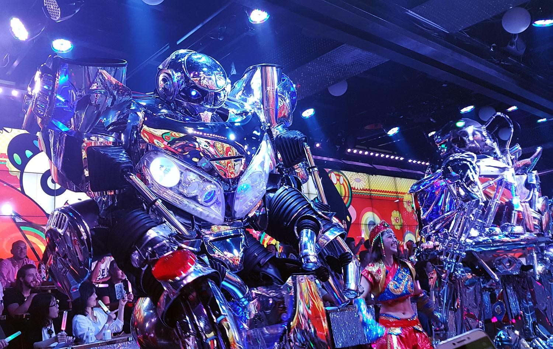 Crazy robot performance at Robot Restaurant in Shinjuku, Tokyo, Japan