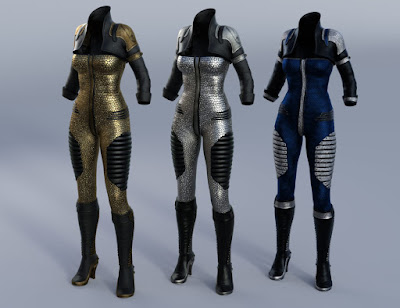 Sci-Fi Lieutenant Outfit for Genesis 3 Female