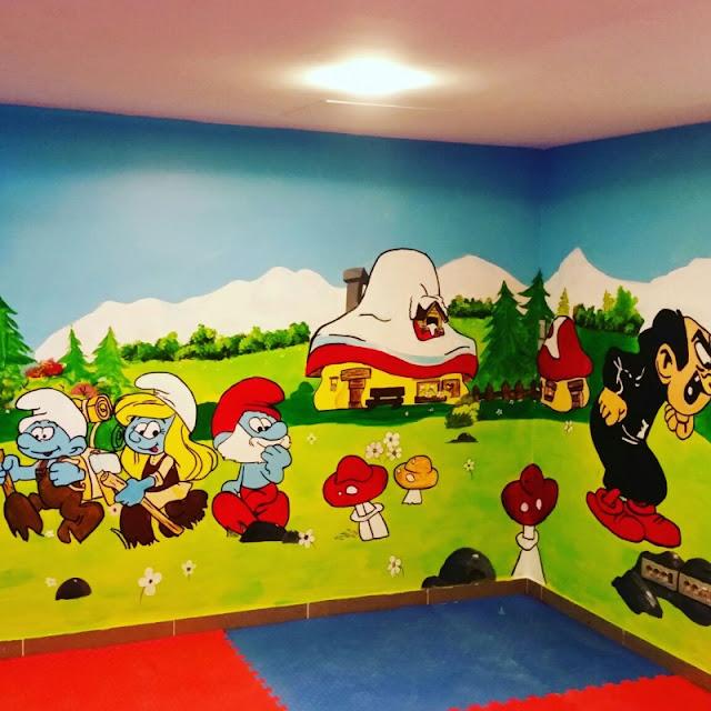 Anaokulu Kreş Duvar Boyama Sanati 1 Toplu Duvar Boyama Sanatı