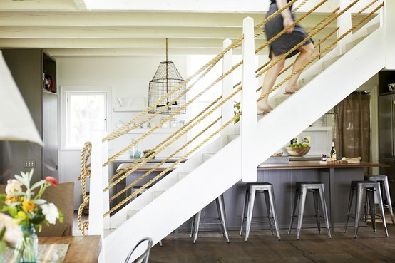 Beachcomber I Like Rope | Nautical Rope Stair Railing | Ship Rope | Closed Staircase | Cottage Style | Banister | Minimalistic