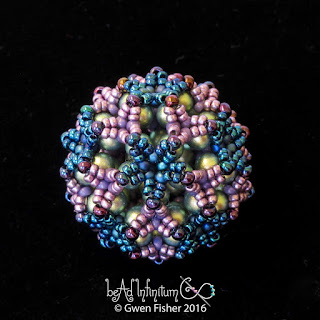 Bucky Ball Beaded Bead