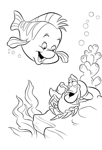 Impressive The Little Mermaid Coloring Pages