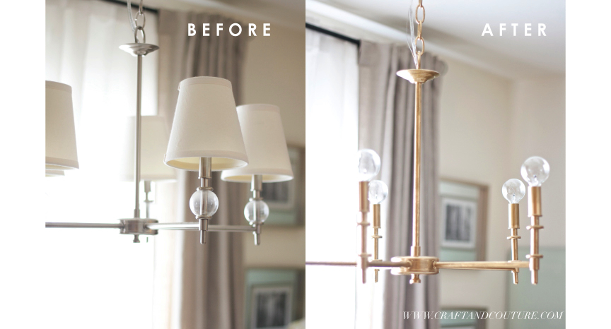 DIY: Vintage Brass Chandelier | Craft and Couture