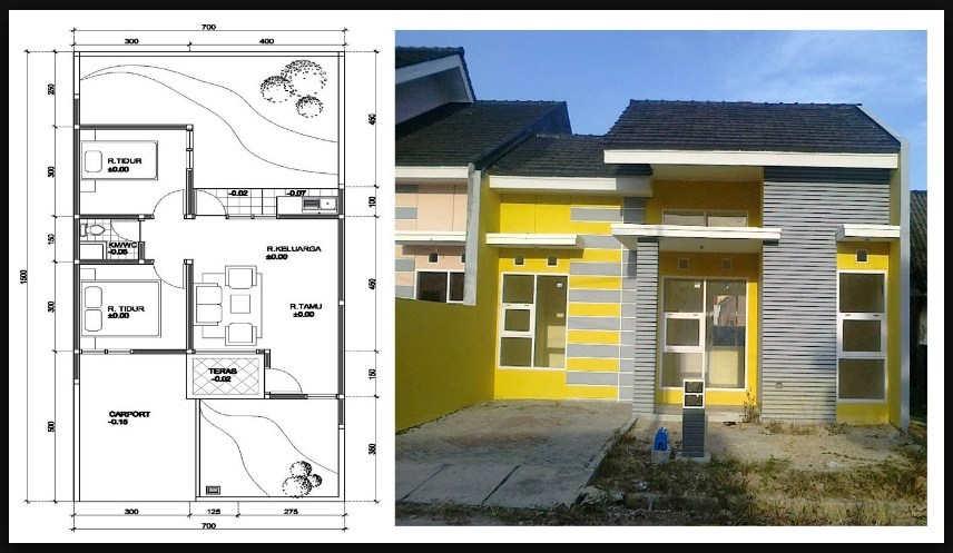 Desain dan Denah Rumah Minimalis Sederhana 1 Lantai Terbaru