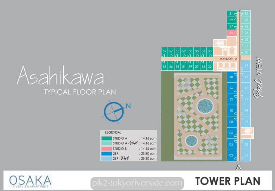Tower Asahikawa Apartemen Osaka Riverview