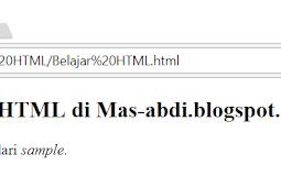 Penggunaan dan Penulisan Tag samp, kbd dan var Dalam HTML