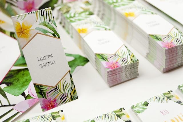 Radosne winietki w stylu tropikalnym od Cartolina.