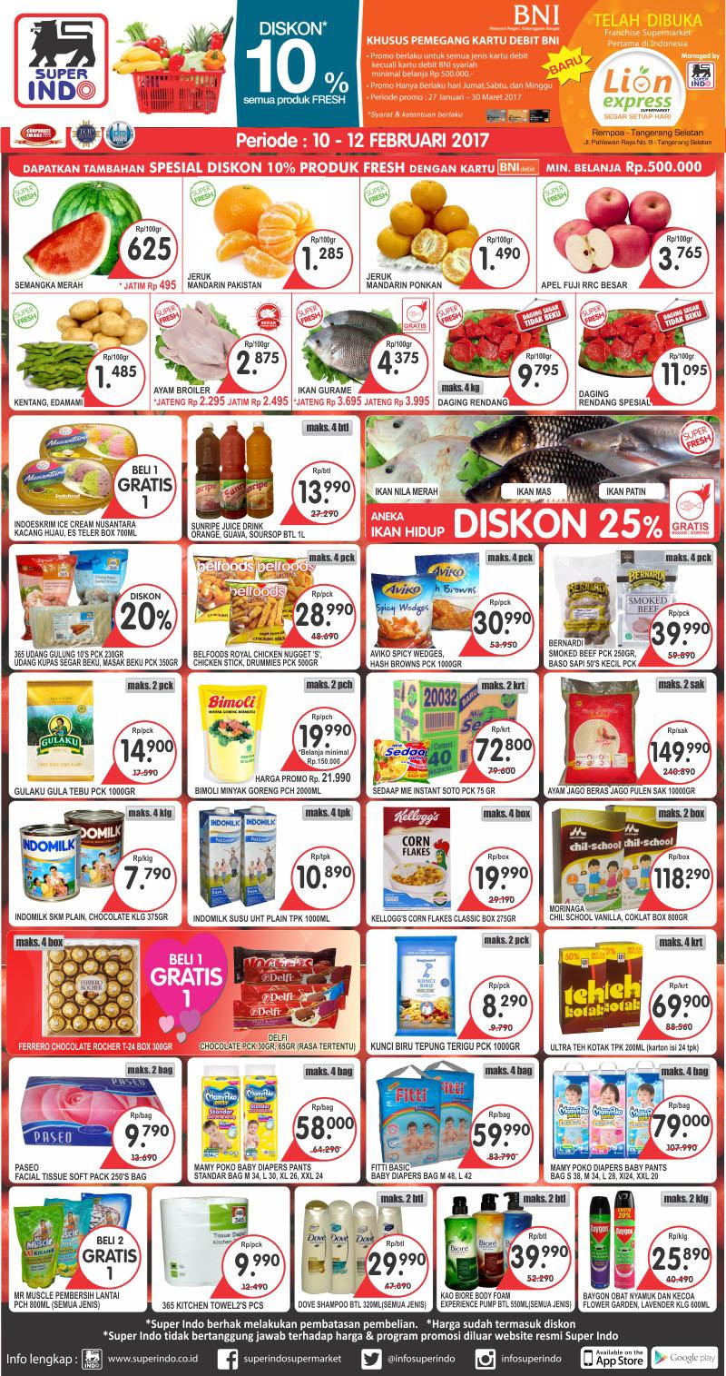 Katalog Promo Weekend Koran Superindo 10 12 Februari 2017